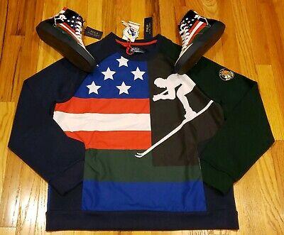 Polo Ralph Lauren Mens Downhill Suicide Skier 92 Ski Sweatshirts Sz LARGE (Ralph Lauren Usa Sale)