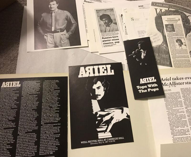 Riviera Casino Las Vegas Ariel Bogoslavsky Pianist Piano Memorabilia Photo Lot