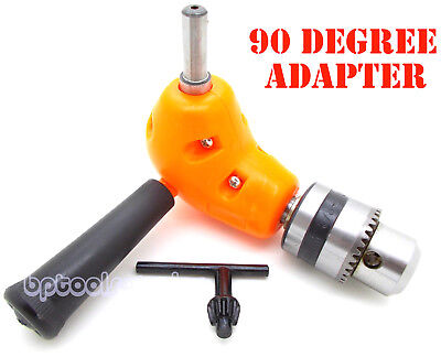 Angle Adaptor Metal Gear 90 Degree Right Angle Drill Attachment 38 Chuck New