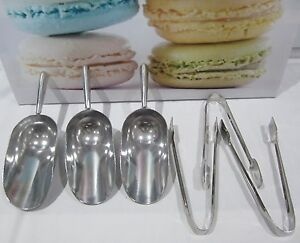 7-PACK-4x-TONGS-x3-SCOOPS-Candy-Lolly-Buffet-Bar-Wedding-Table-Small-Mini-Tongs