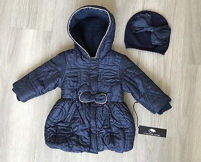 Little Marc Jacobs Blue Jacket & Bari Lynn Swarovski Stone Hat  Size 12 m