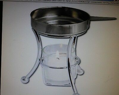 BUTTER WARMER,STAINLESS STEEL incl Stand Butter Cup&Candle*BEST DEAL do the (Best Cup Candles)
