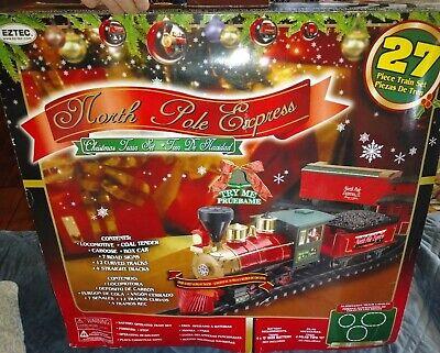 Eztec North Pole Express Christmas Train Set Locomotive used one time works gr8