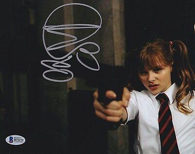 Chloe Moretz Signed 8X10 Photo Kick Ass Hit Girl Beckett Bas Autograph Auto C