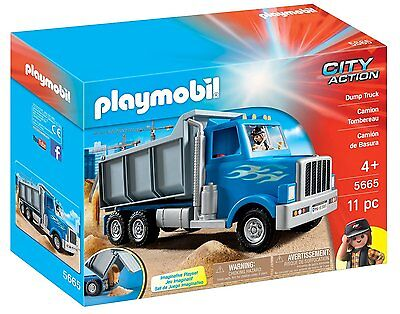 PLAYMOBIL 5665 Dump Truck City Action Ages 4+ New Toy Boys Girls Play Car Gift