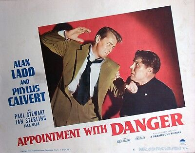 Appointment With Danger, 1951, original lobby card
