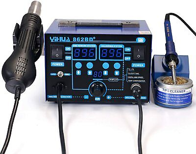 Yihua 2 In 1 Soldering Iron Hot Air Rework Station