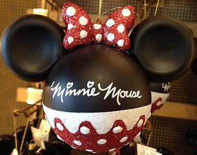 Disney Parks Minnie Mouse Glitter Ornament - Disney Parks Exclusive