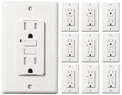 15 Amp Gfci Gfi Receptacle Outlet -tamper Resistant Wr -white Ul Gfci 10pack