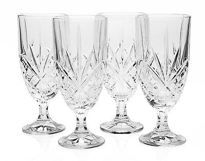 - Godinger  Crystal Set of 12 Iced Beverage  Glasses