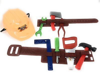 7 Piece Lil Handy Man Pretend Play Children's Toy Tool Belt Set Little Builder
