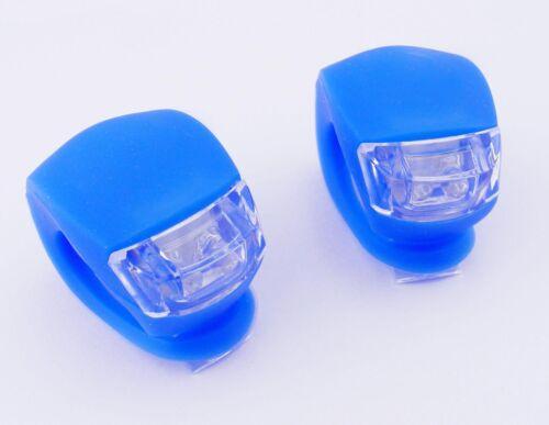 2pcs RED LED Light Waterproof  Bicycle bike Head Front Rear  Warning Reflector