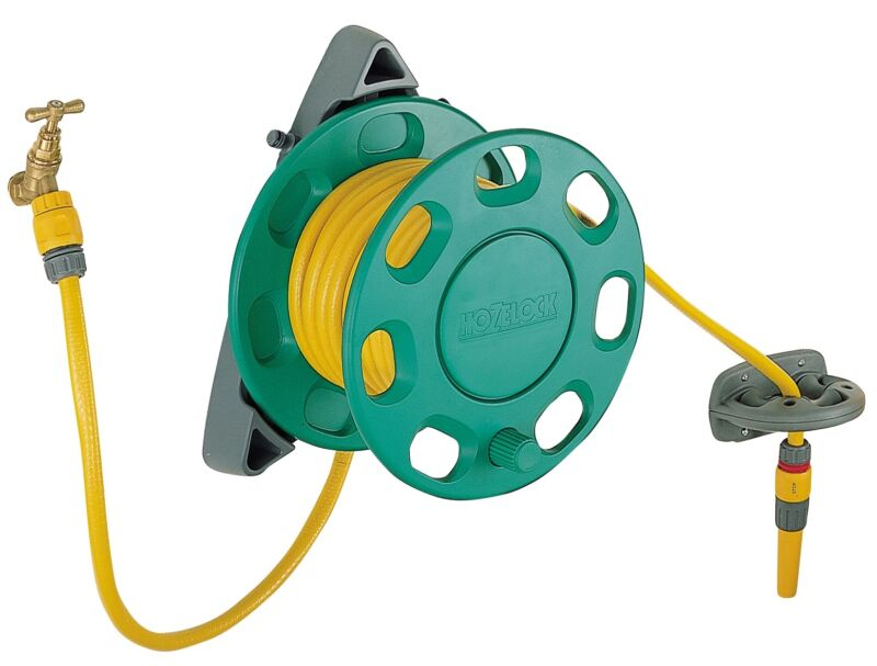 how to make a garden hose reel