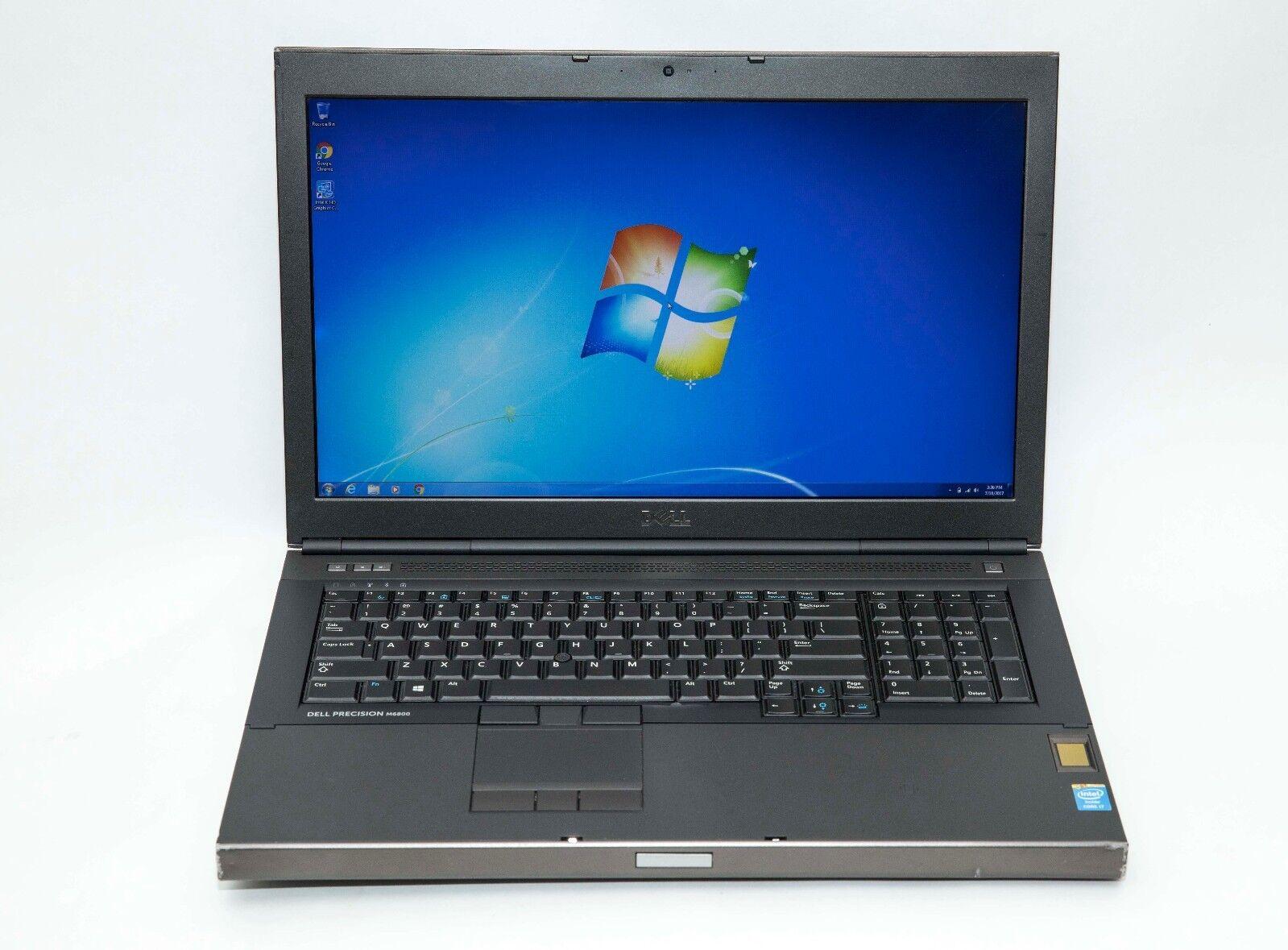 Dell Precision M6800 i7-4800MQ 2.7GHz 8GB 256GB SSD Wn7 NVidia 4GB Gaming Laptop