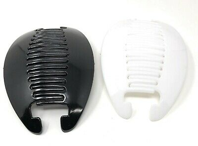 2 set COMB BANANA CLIP HAIR RISER CLAW LOT(Black-White).