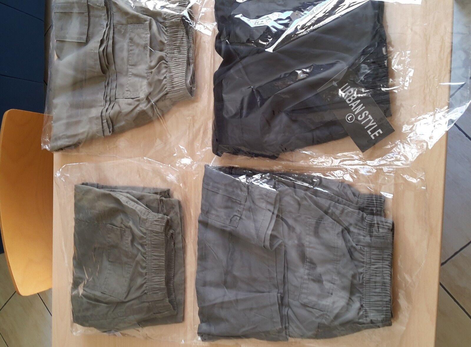 4 paia Bermuda pantaloncini estivi uomo 4 colori taglia L nuovi