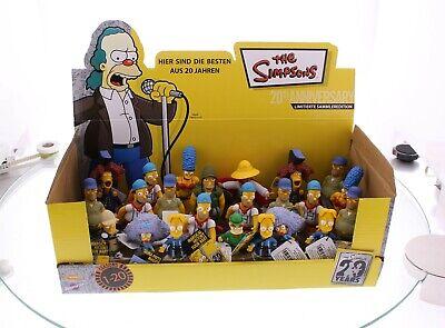 The Simpsons 24 Figuren, Display, Bart, Homer, Lisa, Marge, 20th Anniversary NEU