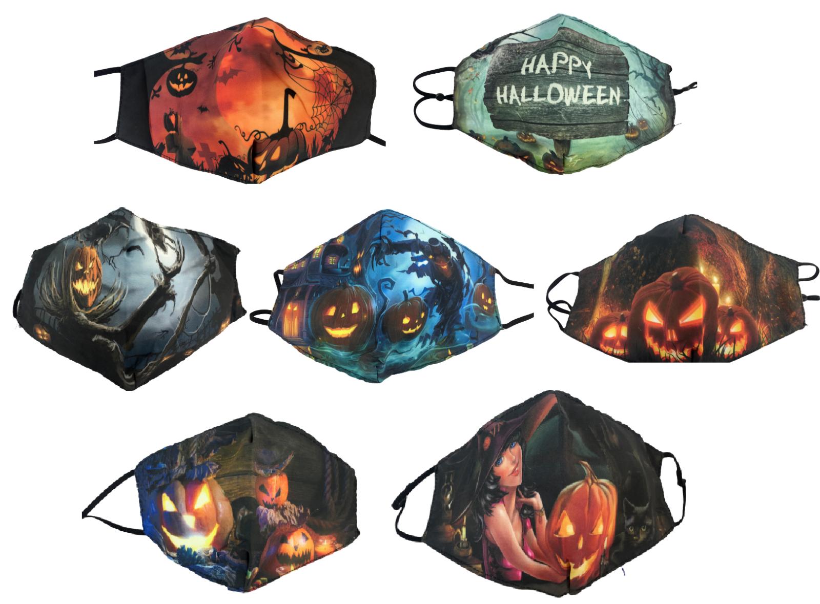 Maske Halloween Mund Nase Gesicht Baumwolle Behelfsmasken Geschenk Schutz Nase
