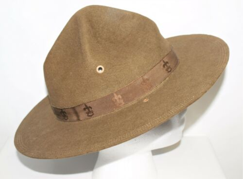 BSA CAMPAIGN HAT WITH PRESS…EARLY CENTURY - SIGMUND EISNER ISSUE…SIZE 7 1/8