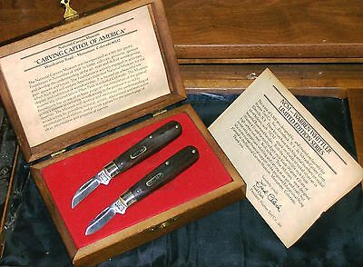 Schrade Whittlers Knives Warren Tool Co. Limited Edition Set W/Presentation Case