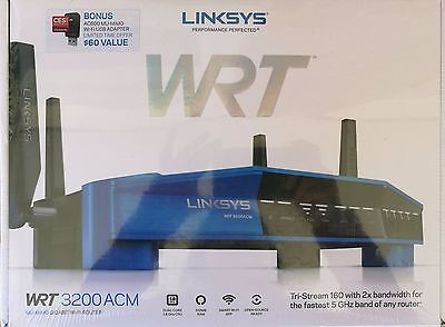 Linksys AC3200 WRT3200ACM Wi-Fi Router with Bonus WUSB6100M ($60 value)