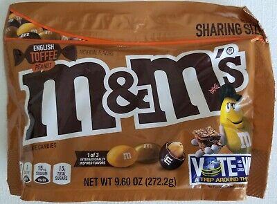 NEW ENGLISH TOFFEE PEANUT CHOCOLATE M&M's 9.6 OZ BAG FREE WORLDWIDE - Peanut Toffee
