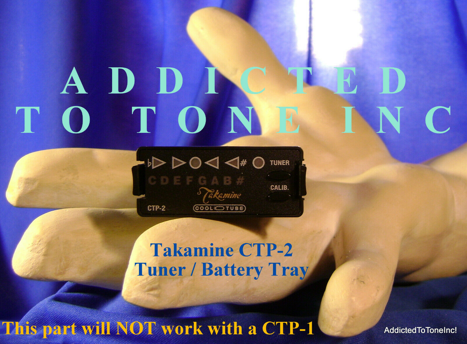 Takamine CTP-2  / CTP2 PreAmp Battery Tray w/Tuner / OEM Par