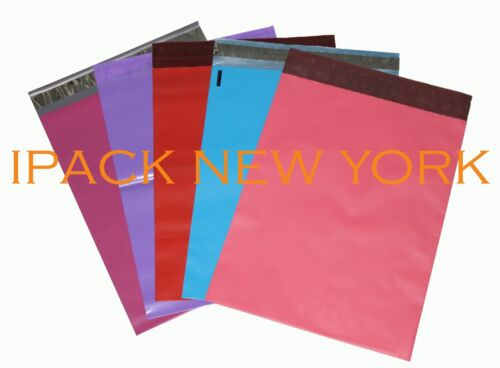 100 multi color 10X13 Poly Mailers Shipping Envelope  Shipping Bags(20per color)