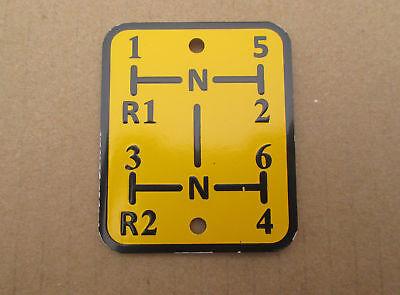 Shift Pattern Plate For Oliver Super 55