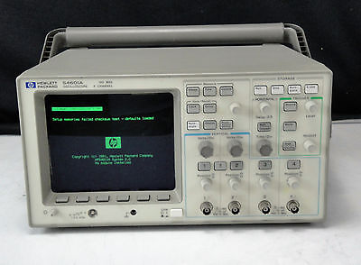 As-is - Agilent Hp 54601a 001002 4 Channel 100mhz Oscilloscope