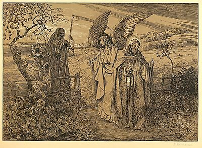 WILHELM STEINHAUSEN - Christus siegt über den Tod - Farblithografie 1890-1900