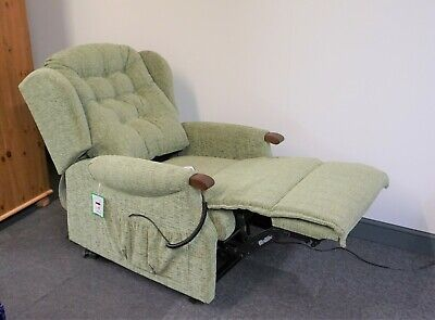 ONLY 2 MONTHS OLD - Sherborne Lynton Petite Riser Recliner Armchair - Lawn Green