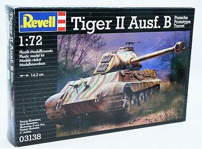 Revell Panzer Tiger II Ausf. B Porsche Prototype Modellbausatz 1/72 #03138 Neu