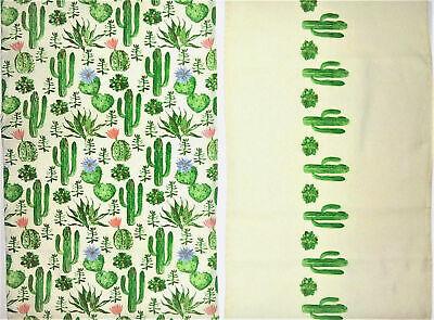 Tischdecke Tischläufer Kaktus Pflanzen grün 160 x 40 cm