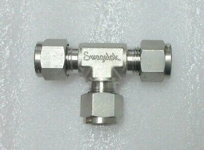Swagelok 38 Stainless Steel Fitting Tee Ss-600-3 Several Available New