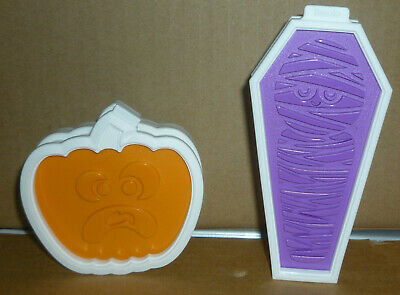 Halloween Tovolo JACK O' LANTERN & Coffin Cookie Cutters 6 Double Sided Stamps