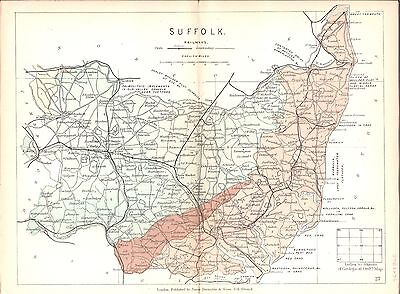 Antique map, Suffolk