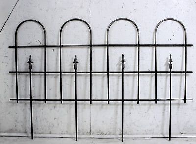 Wrought Iron Edging - Wrought Iron Large Hoop And Spear Fencing - Garden Border Edging Fence