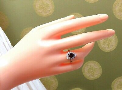 GIA Certified 1.47ct Natural Fancy Orange Brown Diamond Halo Ring  14 Karat 9