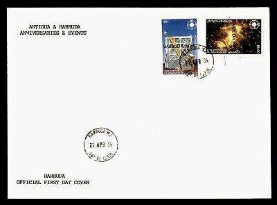 DR WHO 1994 ANTIGUA & BARBUDA OVPT FDC COPERNICUS ANIV SPACE COMBO  g20565