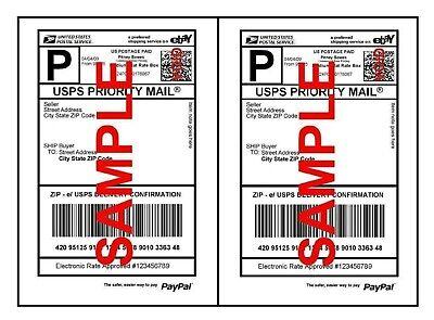 Premium Mailing Shipping Labels 8.5 X 5.5 Half Sheet Self Adhesive Paypal Fedex