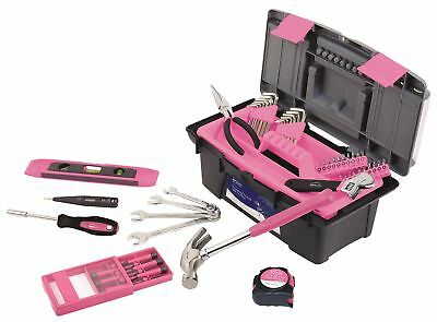 53 Piece Household Tool Kit with Tool Box - Pink