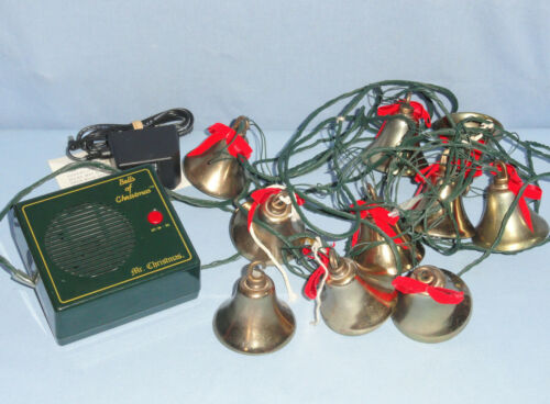 Mr Christmas BELLS OF CHRISTMAS Musical Lighted 4-Part Harmony