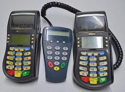 Hypercom T4220 Credit Card Reader Equinox Key Pin Pad Lot Power Supplies