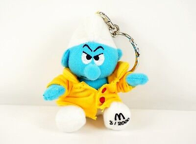 McDonalds Happy Meal Toy 2000 Calendar Smurfs Month 3 March - Storm - Keychain