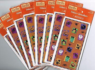 Halloween-scrapbook (8 Packs Hallmark Halloween Scrapbook Stickers!  16 Sheets!  Jack O Lantern Witch)