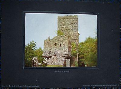 Burg TRIFELS Annweiler. Orig. Farbdruck 1918