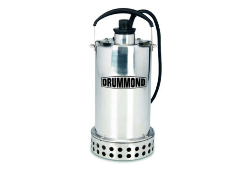3/4 HP Submersible Utility Pump Stainless Steel Construction 4400 GPH Draining