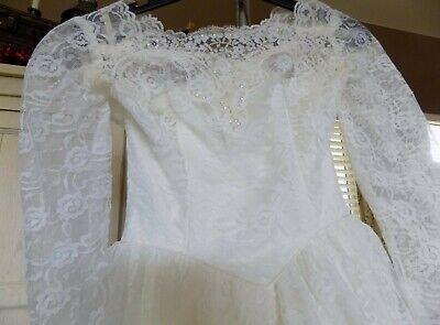 1960's Wedding Dress & Veil  Train  - Halloween Hochzeit Kleider