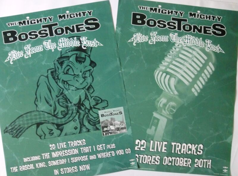 "MIGHTY MIGHTY BOSSTONES ""LIVE FROM THE MIDDLE EAST"" 2-SIDED U.S. PROMO POSTER"